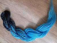 Комплект DE-кос омбре черно-голубой