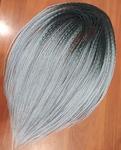 Комплект DE кос омбре черно-серый
