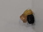 Спиральные кольца №2 (золото,бронза,черный)
