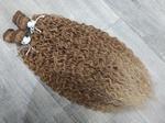Афролоконы на трессах омбре русый-блонд 50см