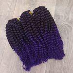 Афрокудри омбре фиолет